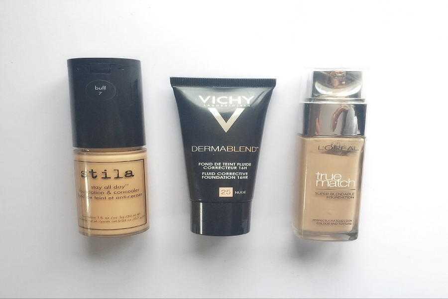 Favourite Foundations Reviews - Stila Stay All DAy, Vichy Dermablend, L'Oreal True Match